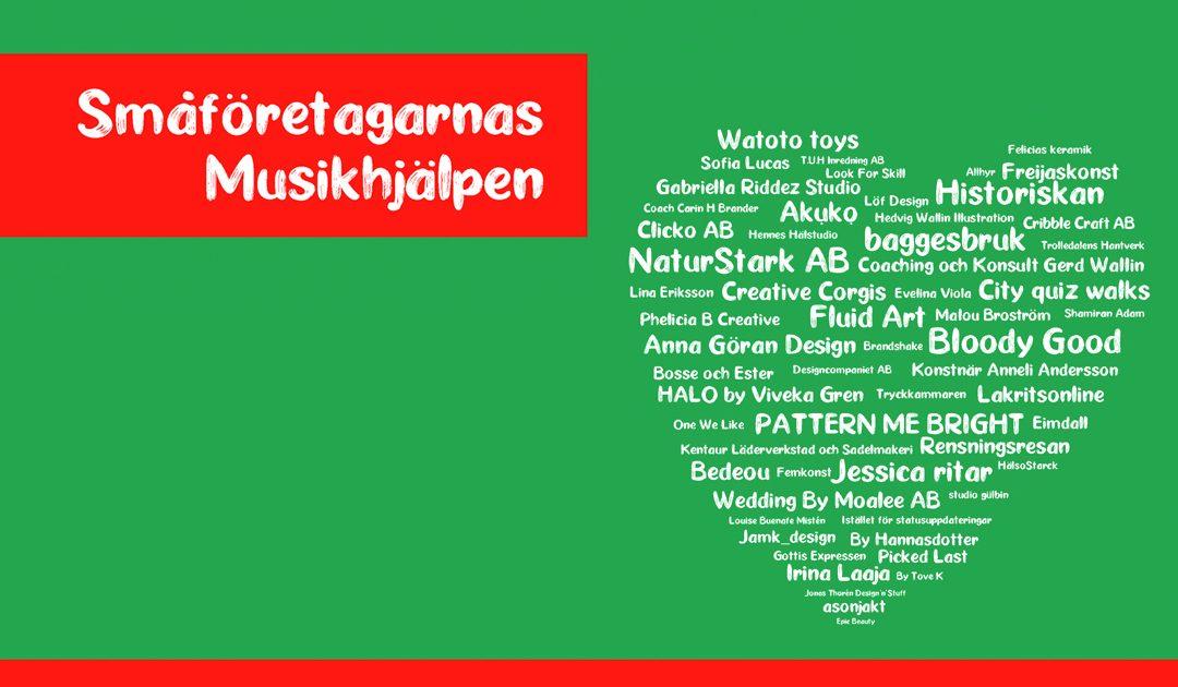 Sveriges största goodiebag i Musikhjälpen 2020